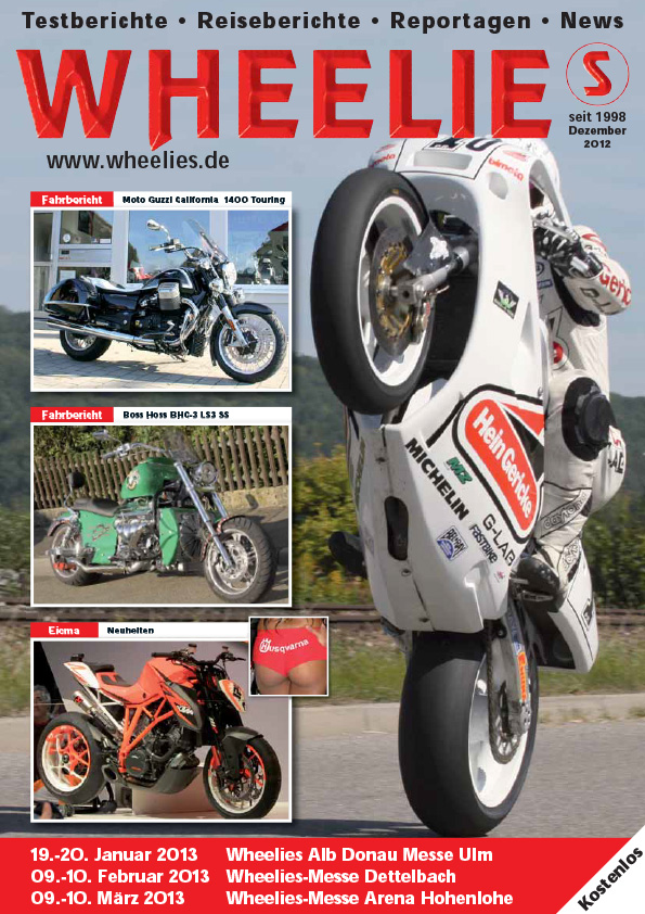 Wheelies Titelfoto mit Peter Rubatto